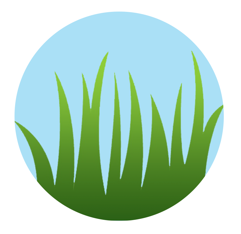Summer water saving tips. Clipart grass circle