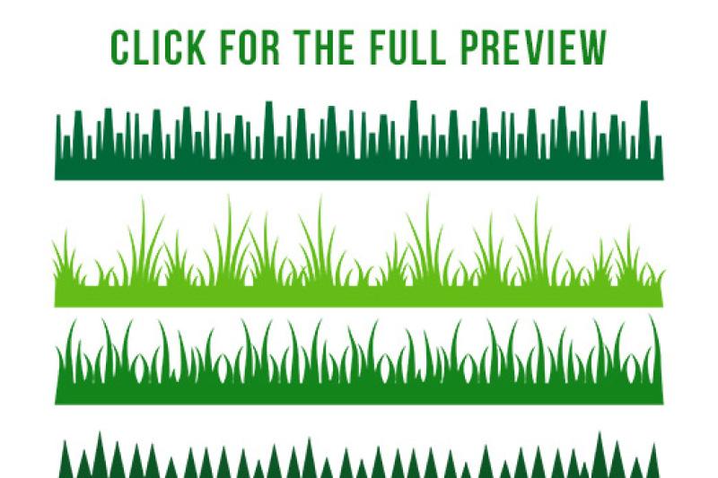borders woodlands. Clipart grass divider