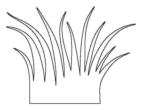 Black and white line. Grass clipart outline