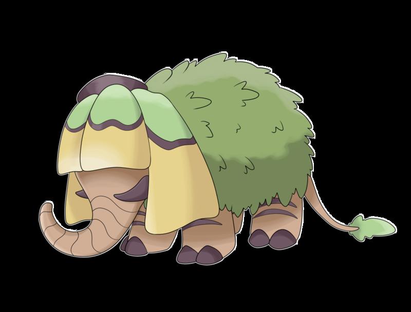 Clipart grass elephant grass. Fakemon starter chifant by