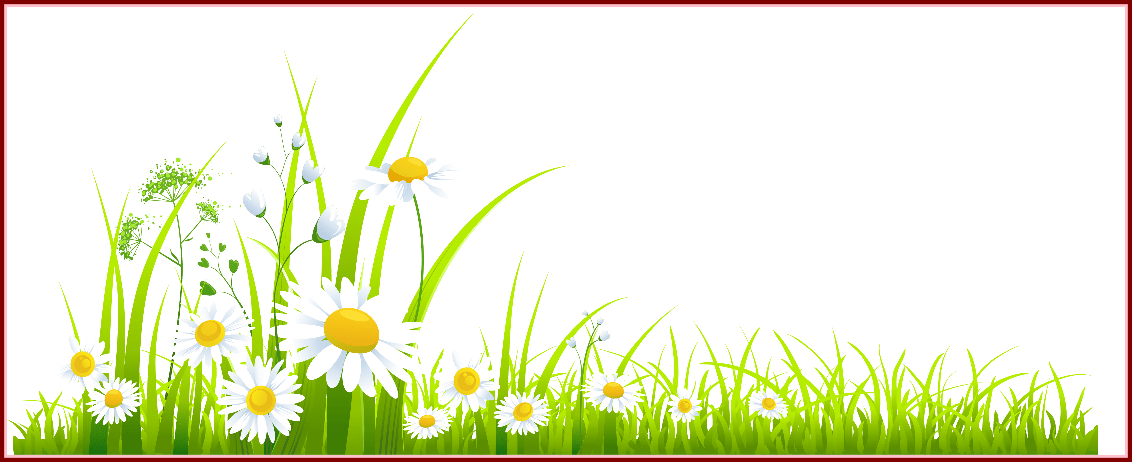 Incredible with dandelions png. Clipart grass fence