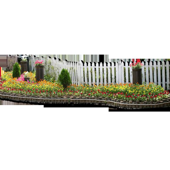 Garden clip art flower. Clipart grass fence