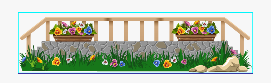 Fence clipart flower. Fencing border png