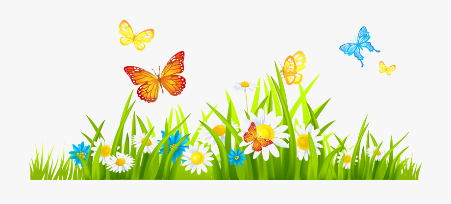 Flowers borders april and. Clipart grass flower