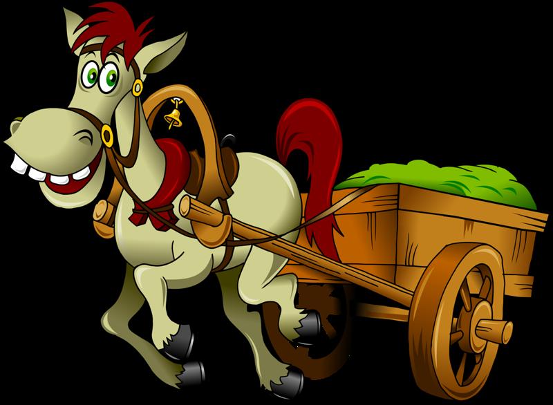 Clipart horse food. Drawn vehicle cart clip