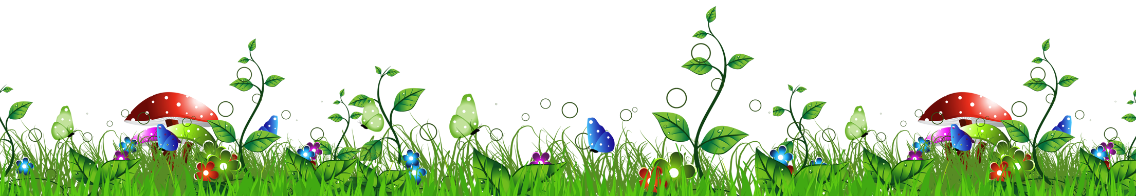 Mushrooms clipart green mushroom. Grass with png picture