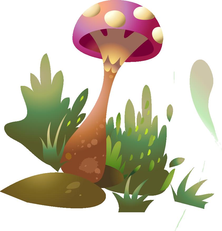 Mushroom drawing clip art. Clipart grass fungus