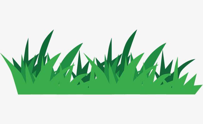 Cartoon turf green land. Clipart grass grassland