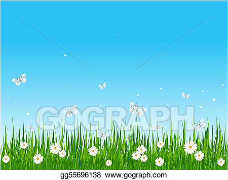 Clipart grass grassy area. Vector stock field and