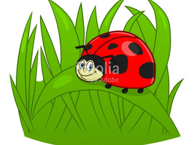 X free clip art. Clipart grass ladybug