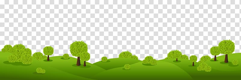 Clipart grass landscape. Trees panorama hill transparent