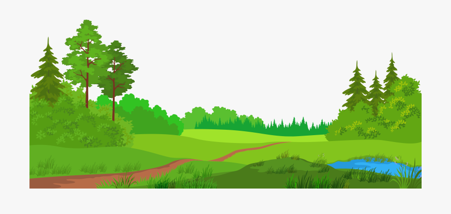 Landscaping tree and trees. Clipart grass landscape