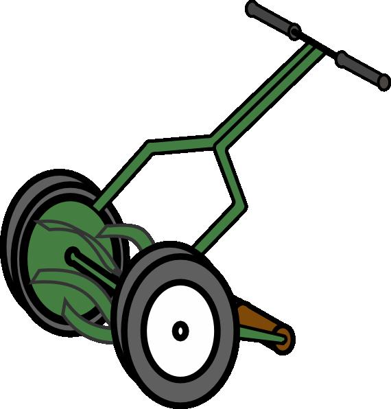 Clipart grass lawn mower. Cartoon push reel clip