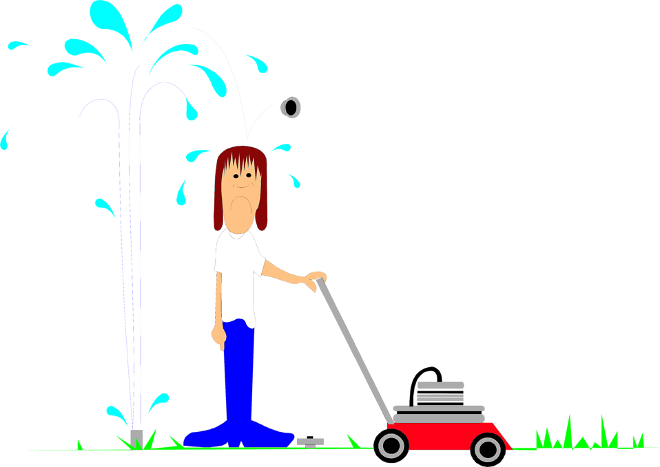 Free stock photo illustration. Professional clipart lawn mower