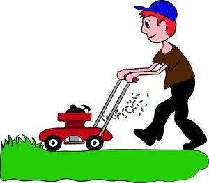 Pin on artwork . Clipart grass lawn mower