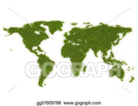 Drawing world green gg. Clipart grass map