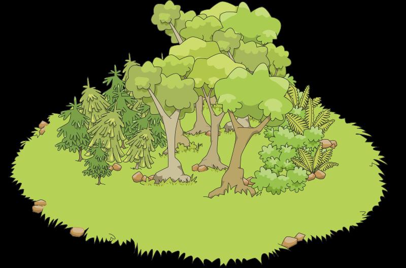 Little undergrowth medium image. Clipart grass map