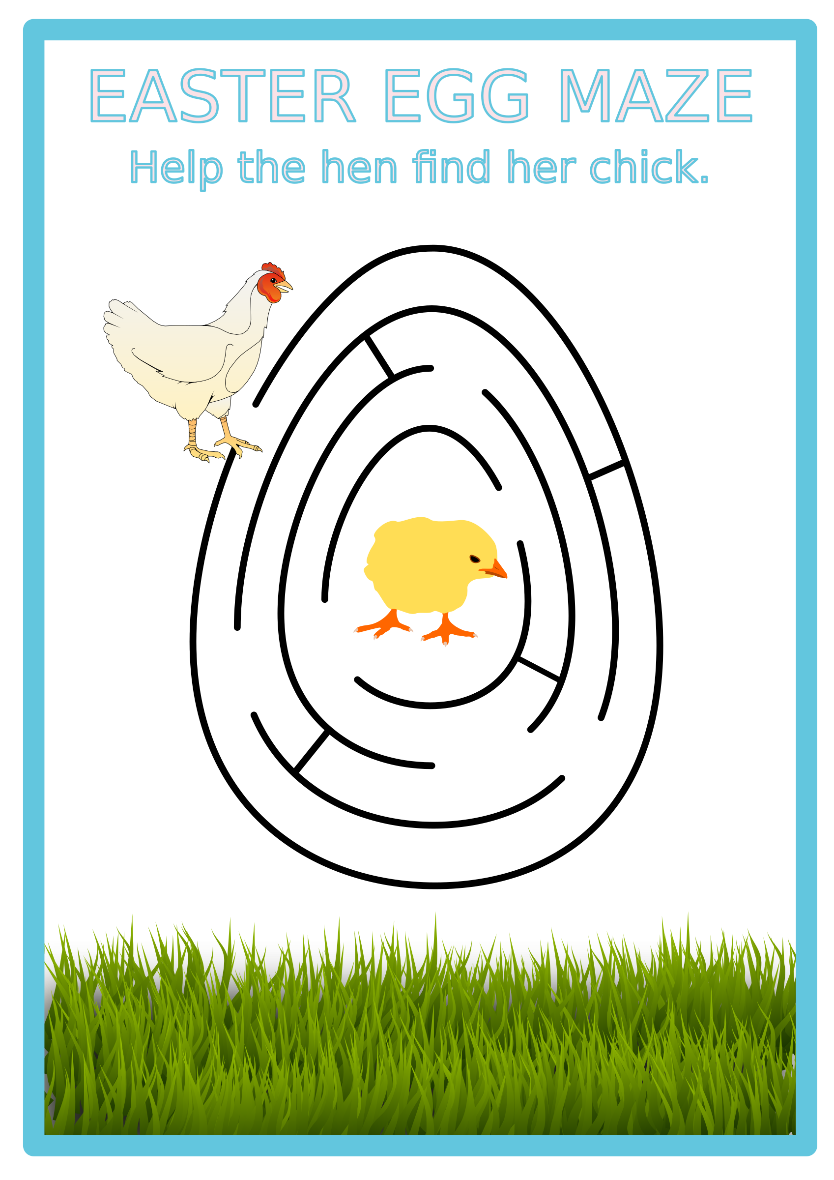 Easter egg big image. Clipart grass maze