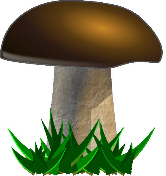 Clip art at clker. Clipart grass mushroom
