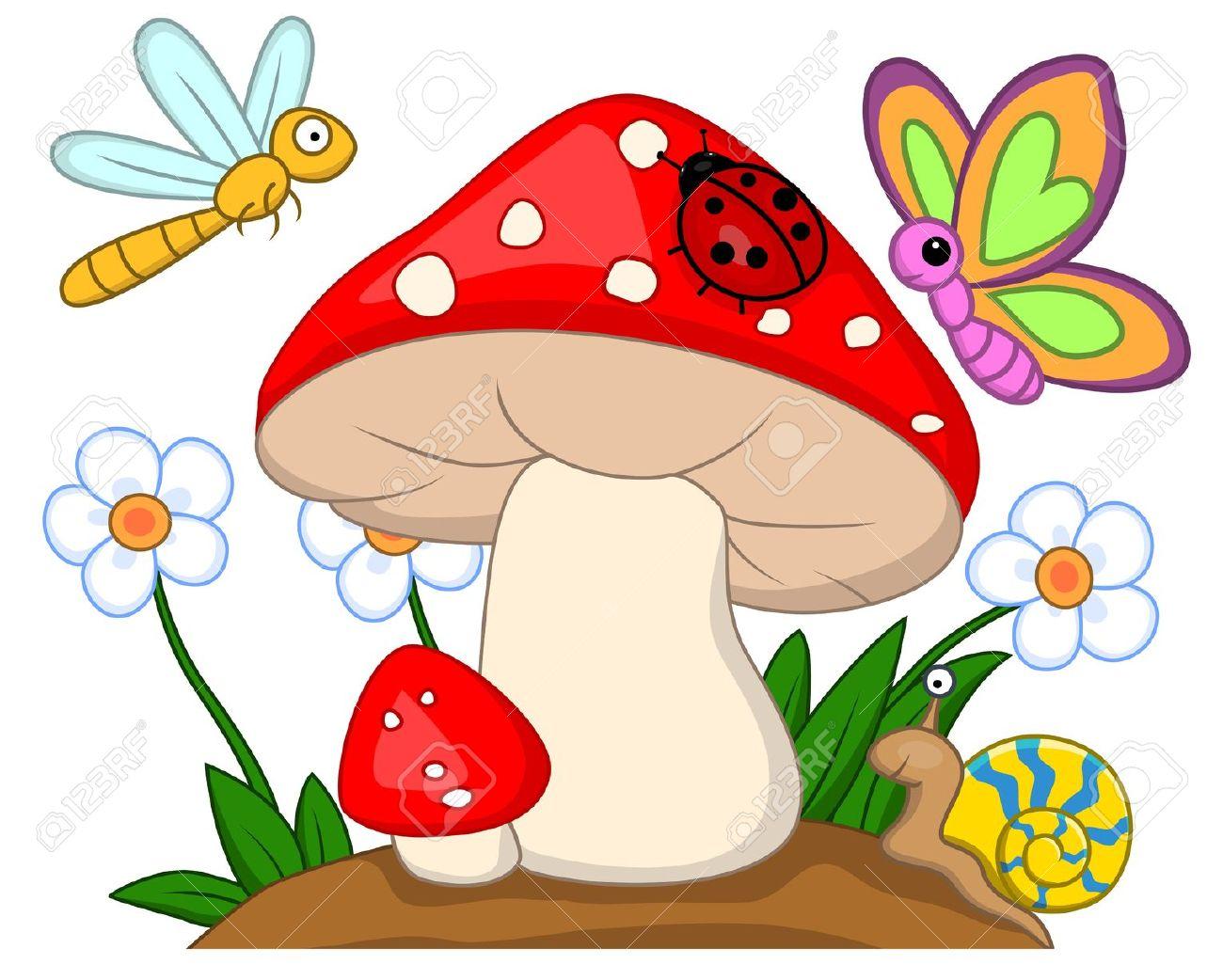 Mushrooms clipart cartoon. Mushroom free download best