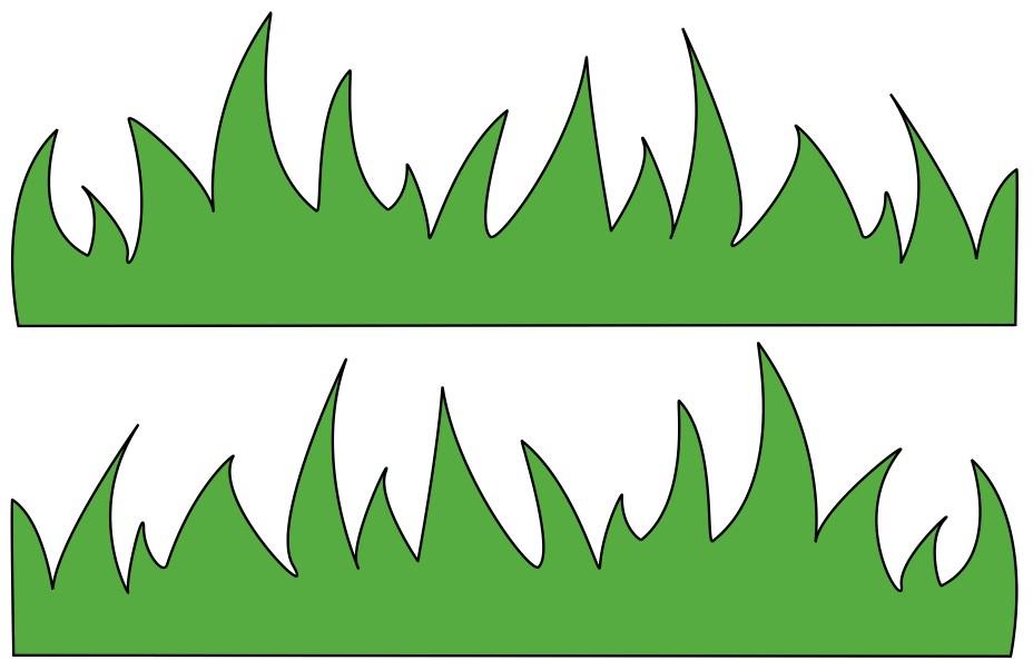 Portal . Clipart grass outline