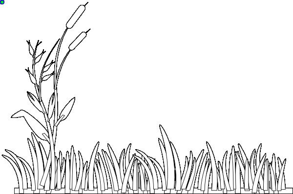 Clip art at clker. Grass clipart outline