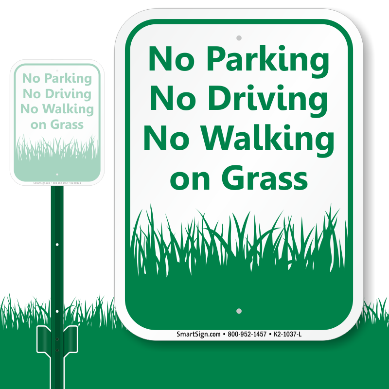 Clipart grass park. No parking on the