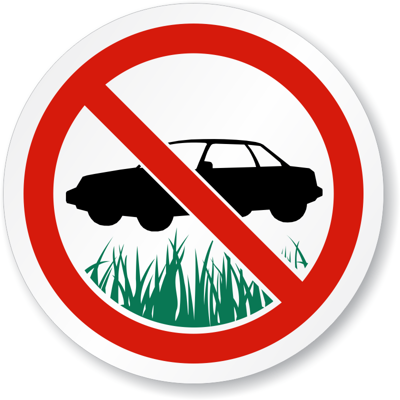 No parking on the. Clipart park grass