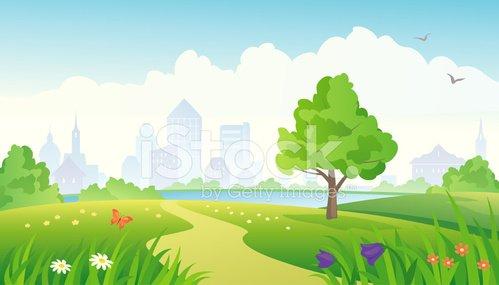 City premium clipartlogo com. Clipart grass park