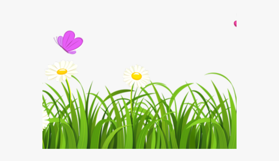 Clipart grass piece. And flowers free cliparts