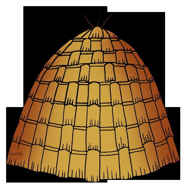 Native americans clip art. House clipart orange