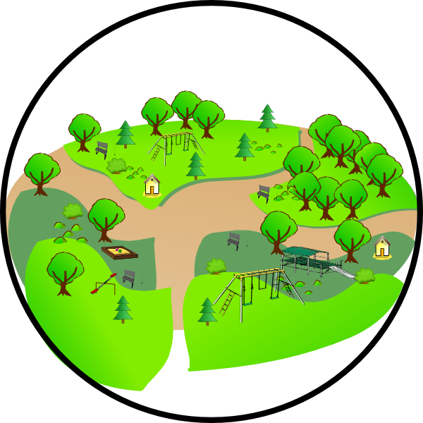 Country park clip art. Clipart grass playground