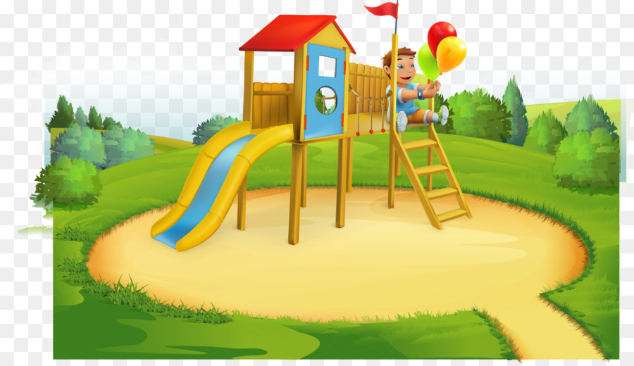 Illustration park . Playground clipart cartoon