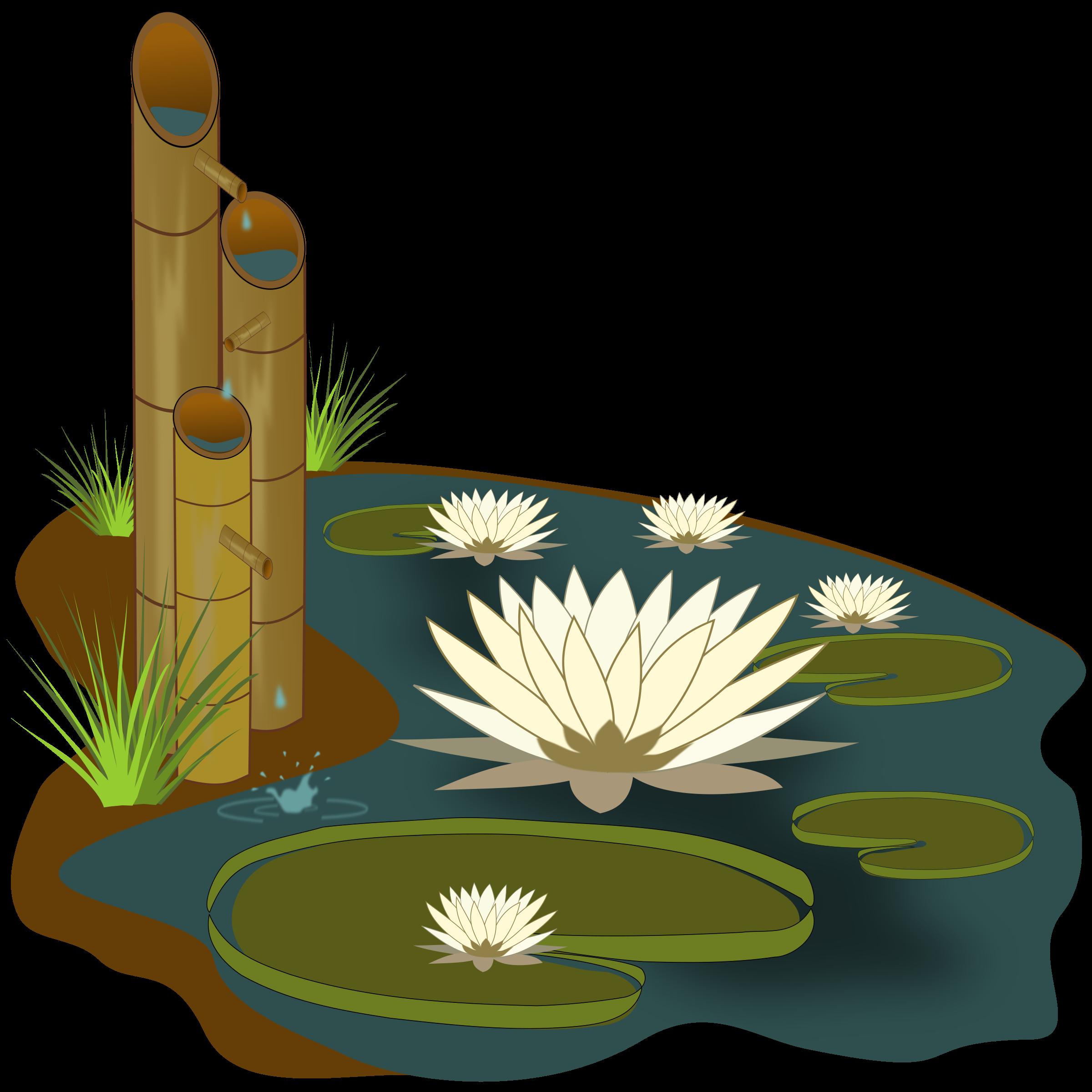 Vit ria r gia. Lake clipart lily pad pond