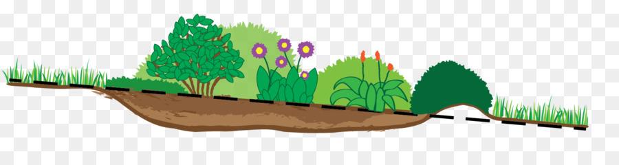 Green background garden illustration. Clipart grass rain