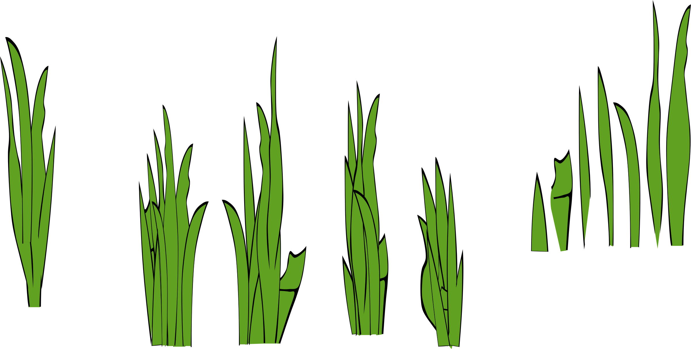 Clipart grass reed grass. Blades and clumps icons