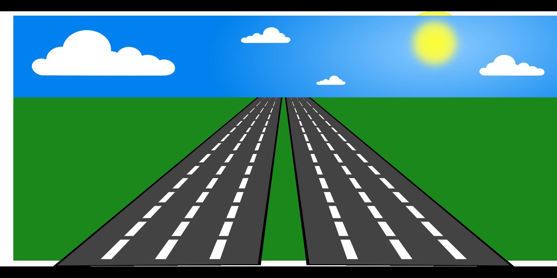 Highway clip art transprent. Clipart grass road