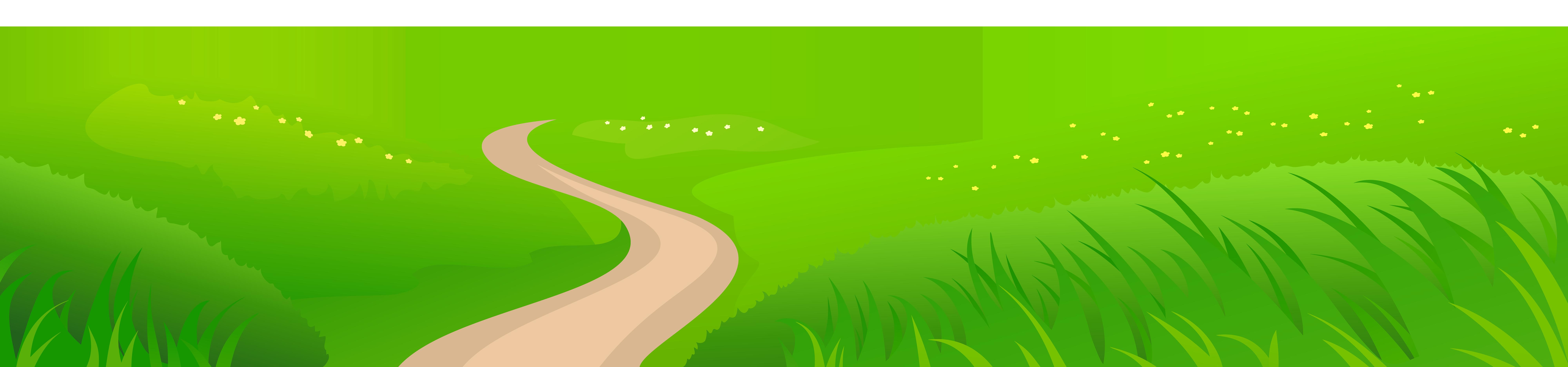 Meadow transparent png clip. Clipart grass road