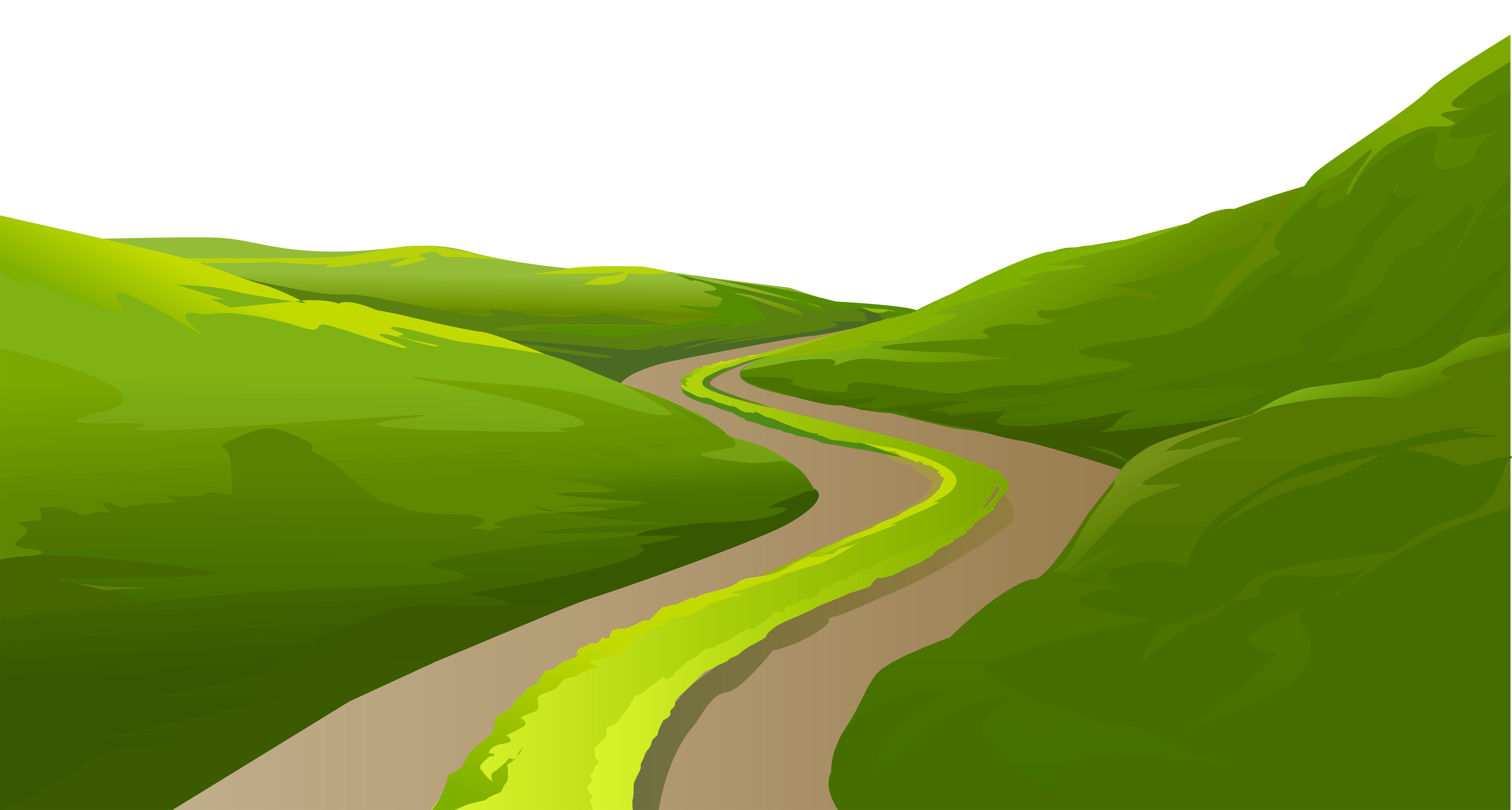 Clipart grass road. Meadow trail ground decorative