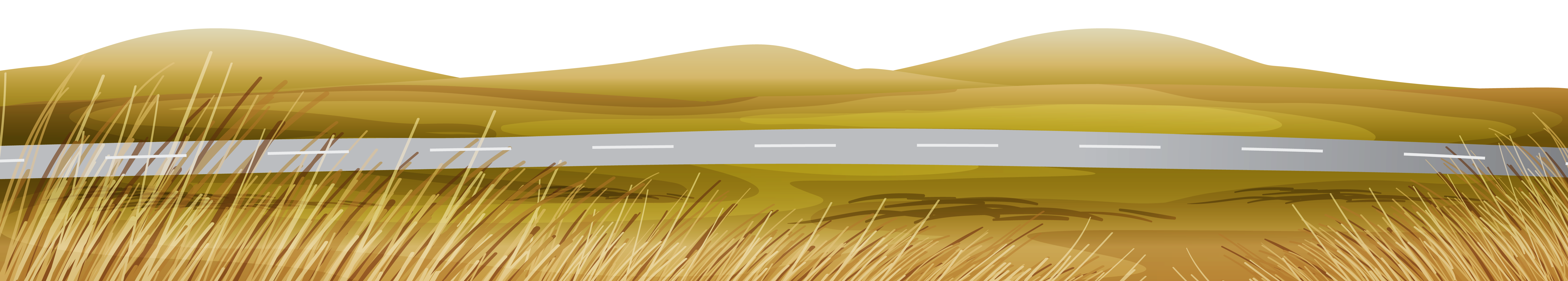 Fall asphalted with ground. Clipart grass road