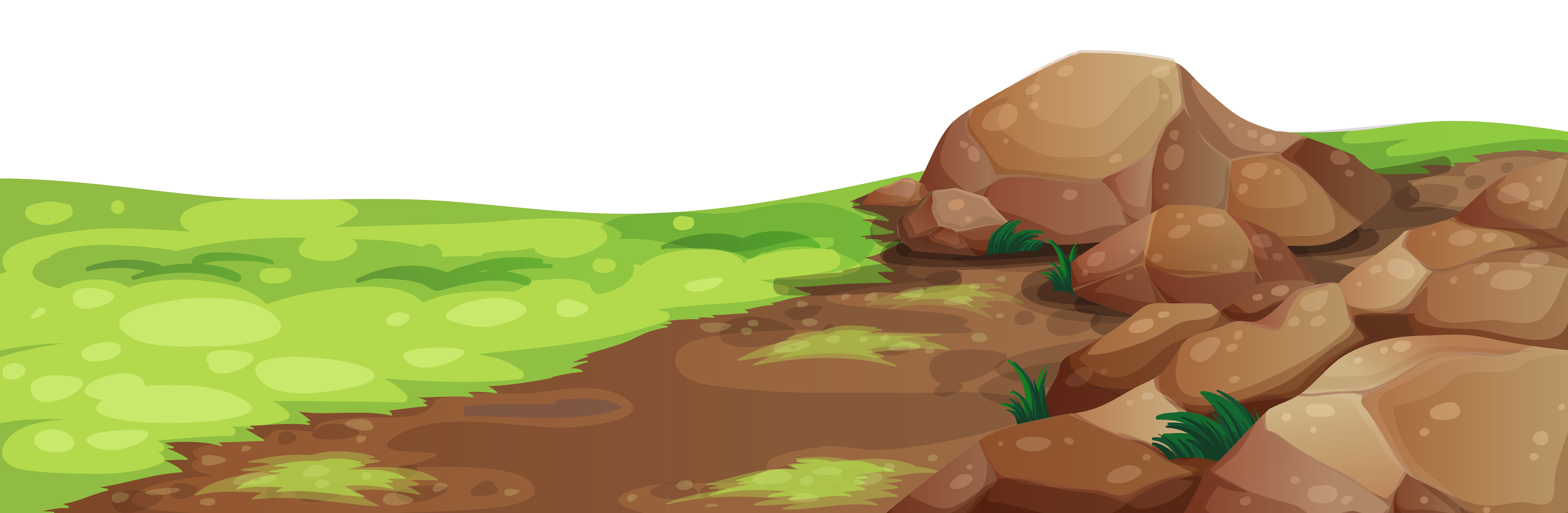 And stones ground png. Clipart grass rock