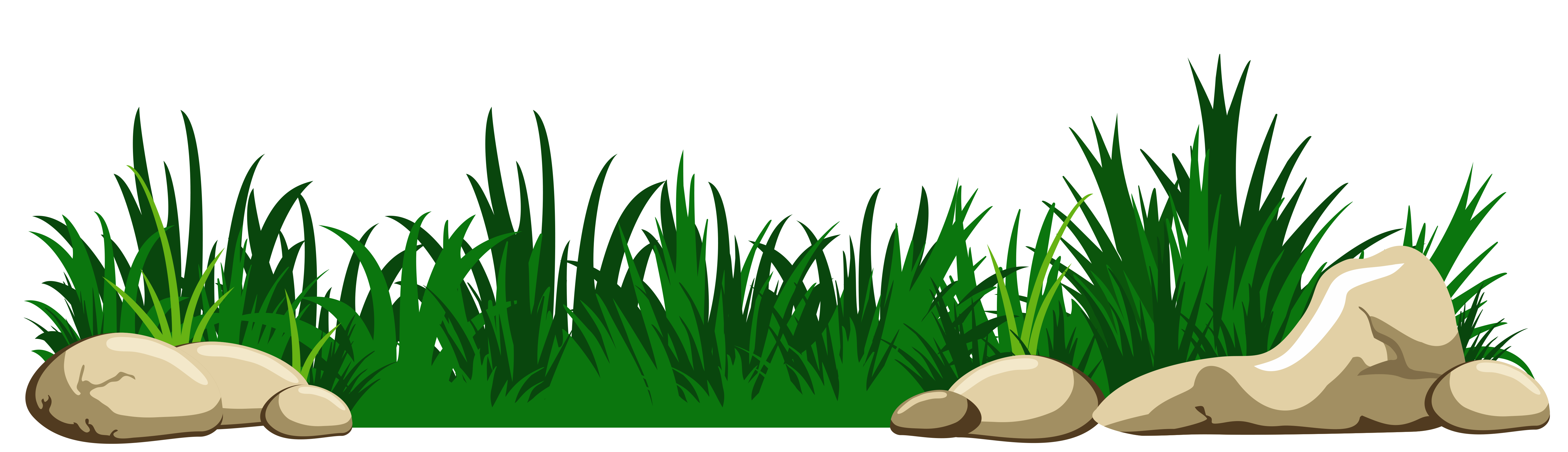 With rocks transparent png. Picture clipart grass