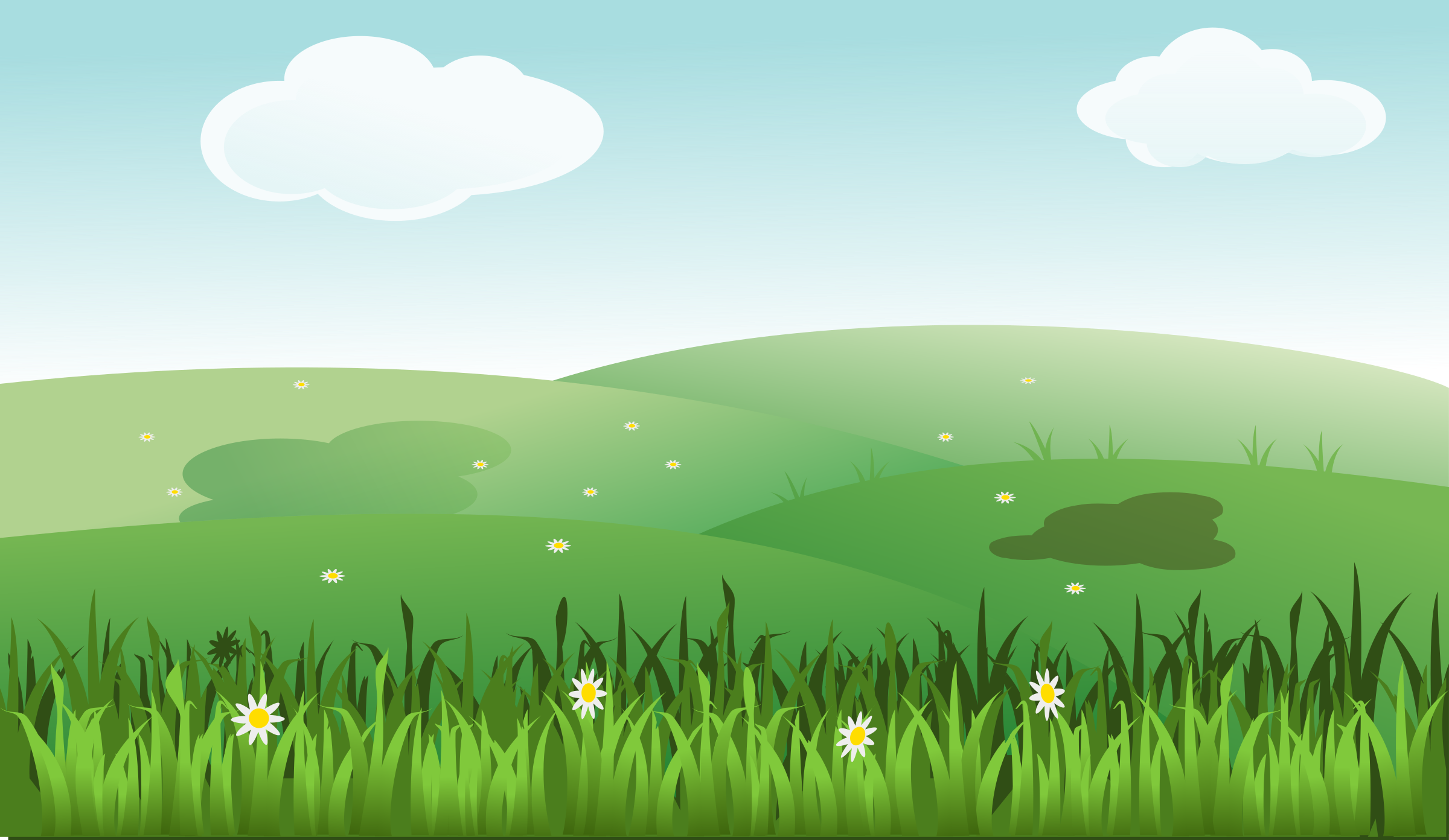 Landscape big image png. Clipart grass scenery