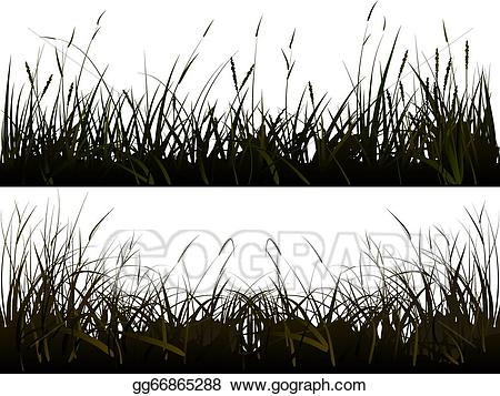 Grass clipart shadow. Vector stock silhouette meadow