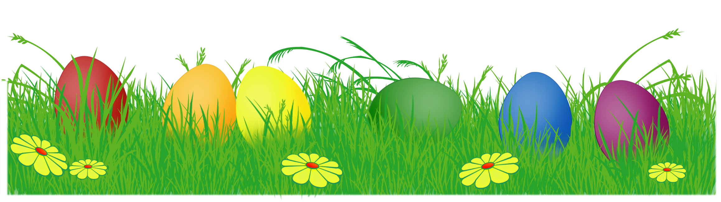Easter eggs in . Gate clipart grass