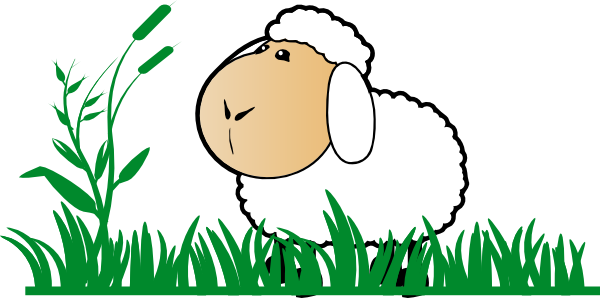 Clipart grass sheep. With clip art vbs