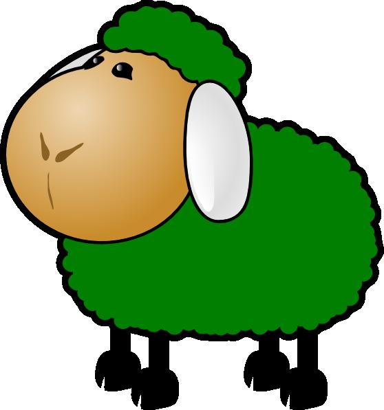 Lamb clipart scared. Green sheep clip art
