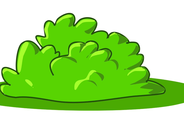 Bush cartoon clip art. Clipart grass shrub