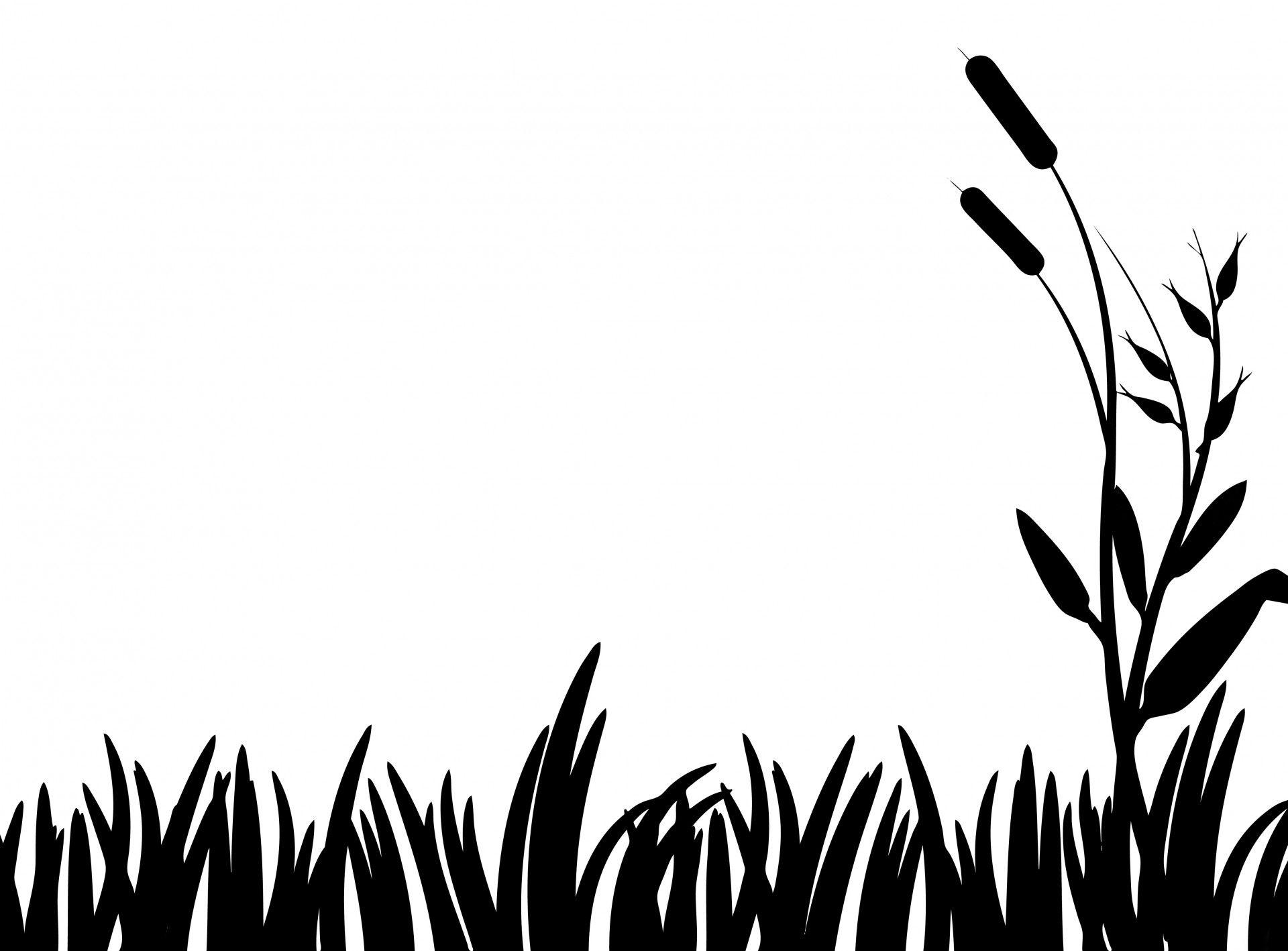 Stencils . Clipart grass silhouette