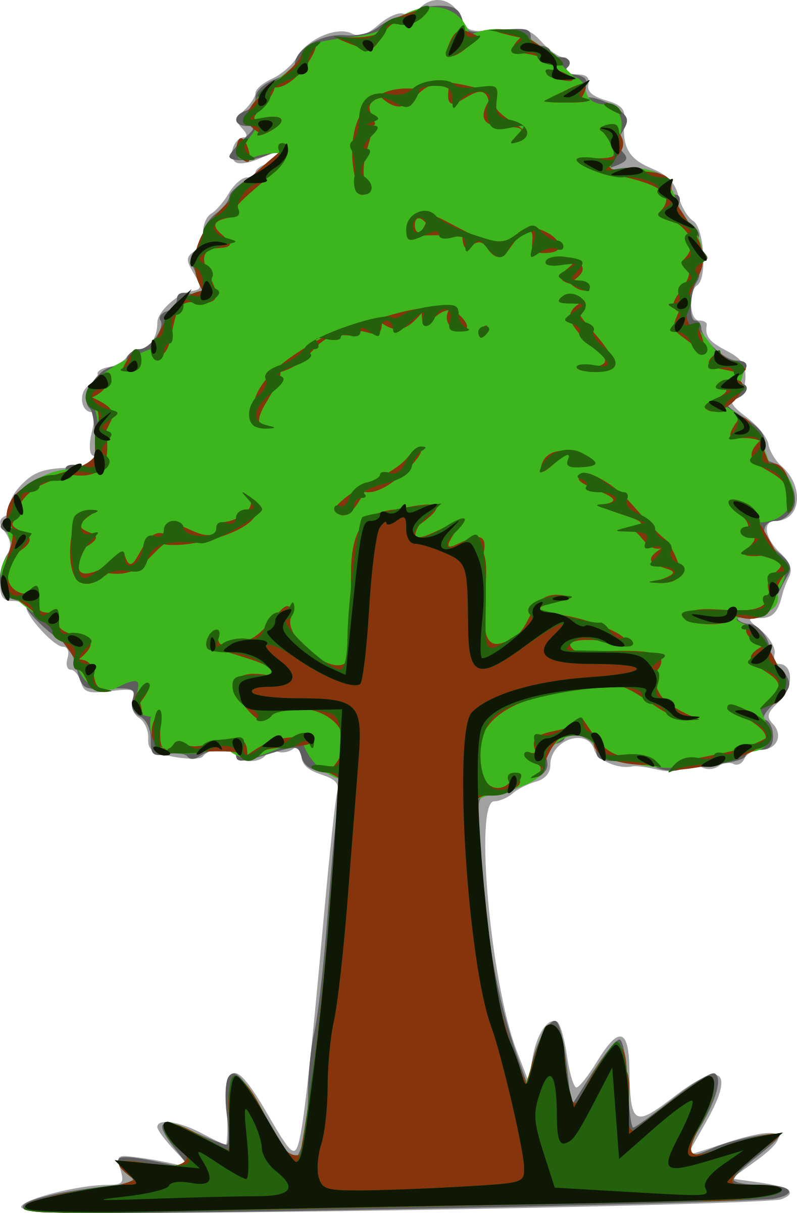 Tree big image png. Clipart grass simple